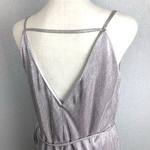 Topshop Dresses - TOPSHOP Strappy Metallic Dress Size 6